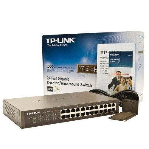 SWITCH 24 PORTAS TP-LINK TL-SG1024D na internet