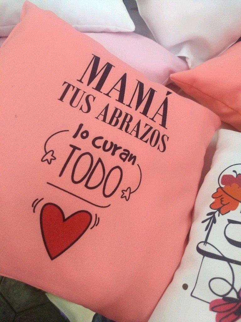 Almohadones personalizados día de la madre