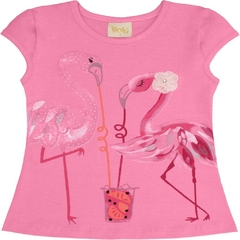 Camiseta Regata Flamingo Rosa - Rolú