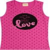 Camiseta Regata Love Rosa - Rolú