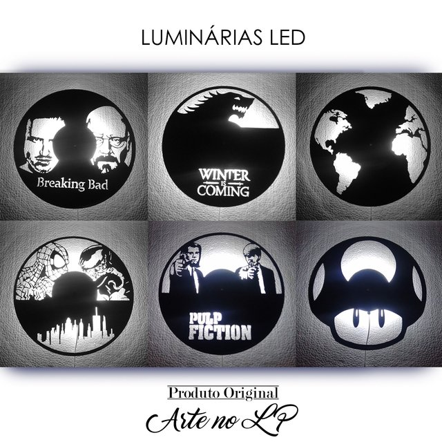 Batman - Luminária - Arte no LP