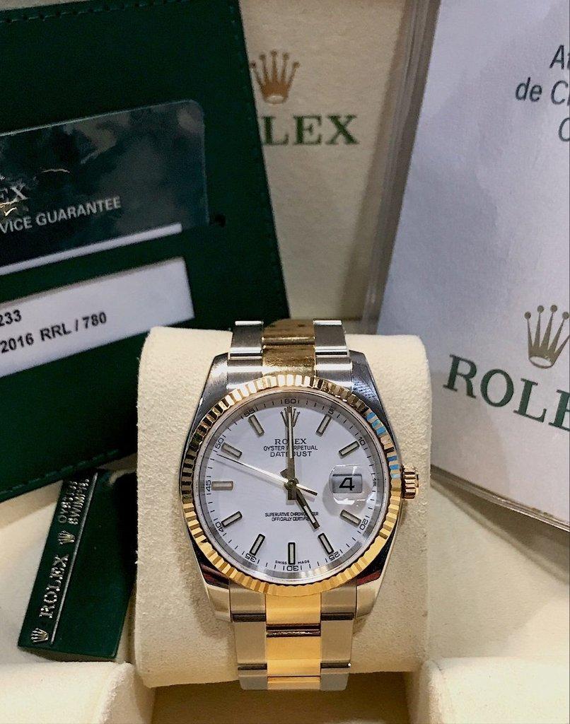 ee1ae3540ce Rolex Datejust Aço E Ouro 36mm - Comprar em USASTORE