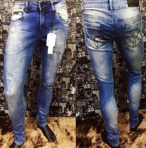ef4122a643e90 Calça Jeans Masculina Calvin Klein Destroier Slim