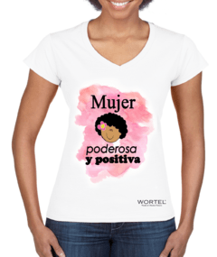 Blusa Mujer Afro Poderosa y Positiva