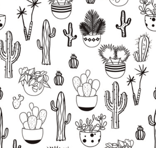 Papel De Parede Cactus De Colorir Mama Loves You