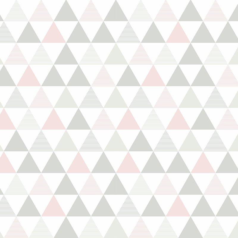 Papel De Parede Triangulos Rosa T Design