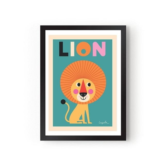 quadro-cards-lion-sentado-omm-design