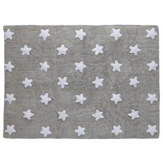 Tapete Cinza com Estrelas Brancas Lorena Canals