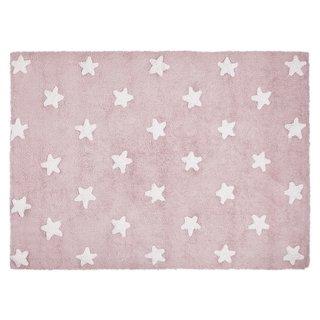 Tapete Rosa com Estrelas Branca Lorena Canals