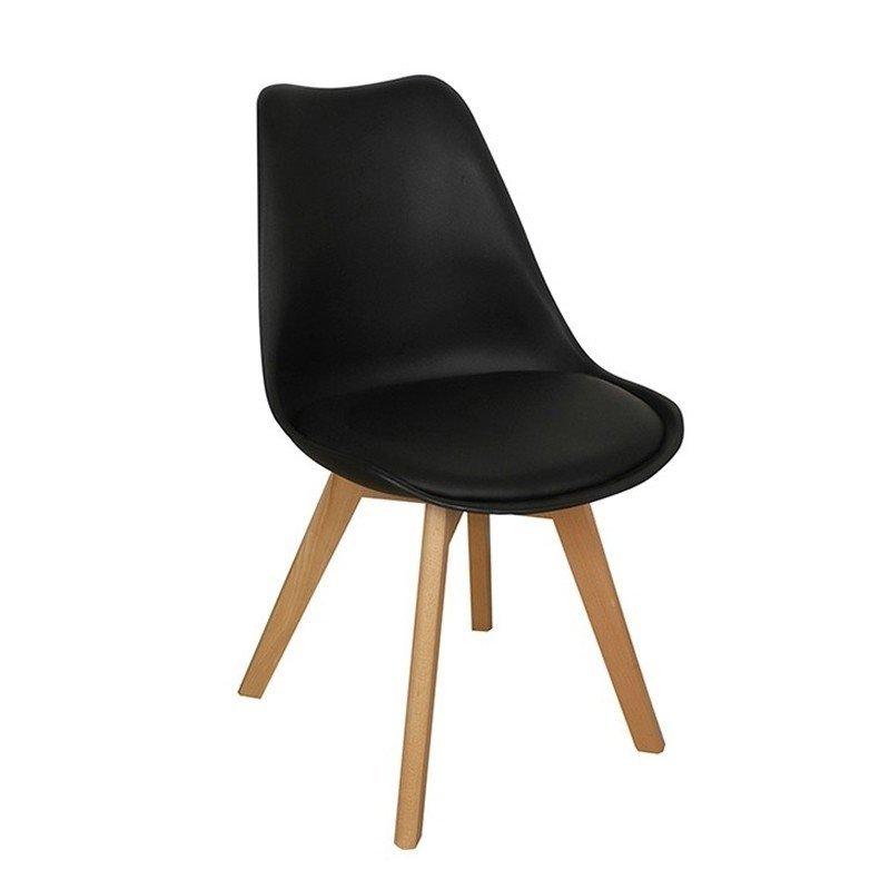 79a082916 Silla Tulip Negra / Madera - Comprar en Del Sur Design