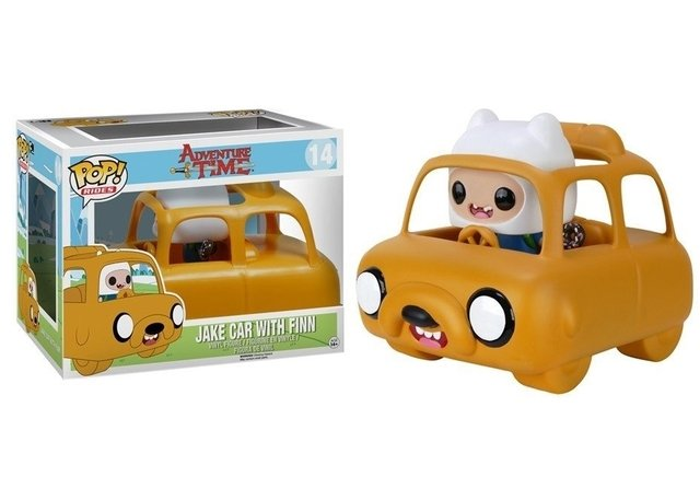 POP! RIDERS - HORA DE AVENTURA - JAKE CAR WITH FINN