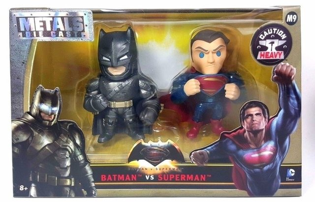 METAL DIE-CAST BATMAN VS. SUPERMAN - PACK SUPERMAN AND BATMAN ARMORED