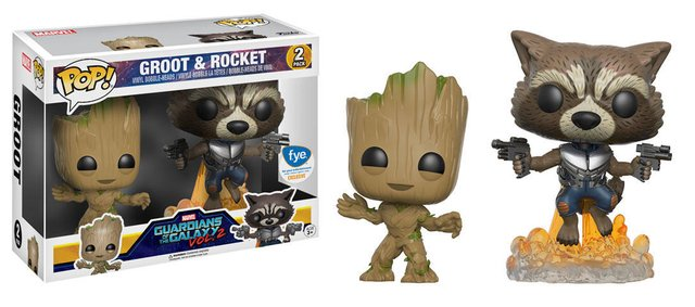 FUNKO POP - GUARDIOES DA GALAXIA 2 - PACK GROOT E ROCKET - FYE