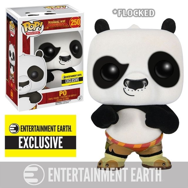 FUNKO POP - KUNG FU PANDA - PO FLOKED - ENTERTAINMENT EARTH