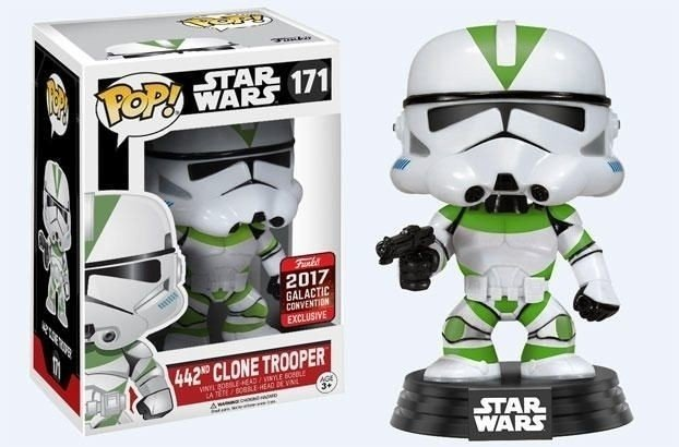POP! VINYL - STAR WARS - 442nd CLONE TROOPER - GALACTIC CONVENTION 2017