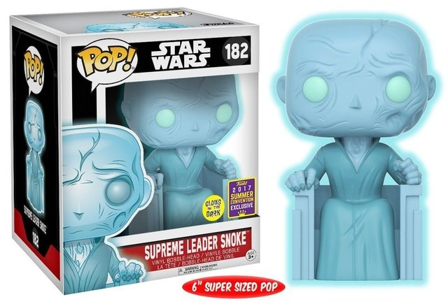 POP! VINYL - STAR WARS - SUPREME LEADER SNOKE (EXC SDCC 2017)