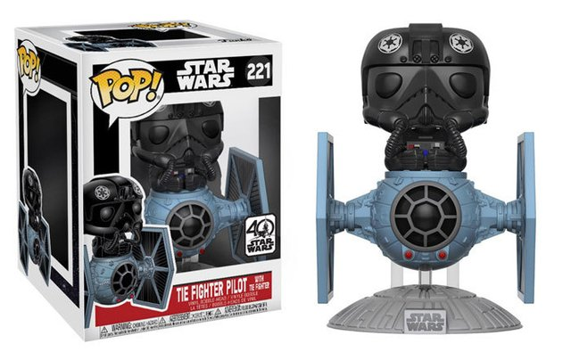 POP! VINYL - STAR WARS - DELUXE - TIE FIGTHER WITH PILOT