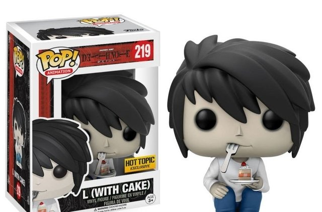 POP! VINYL - DEATH NOTE - L(with CAKE) - HOT TOPIC