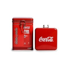 Lata lock top Rectangular Coca-Cola roja