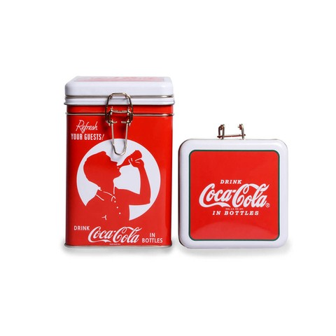 Lata lock top Rectangular Coca-Cola roja y blanca