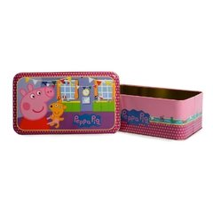 Lata Rectangular Peppa Pig