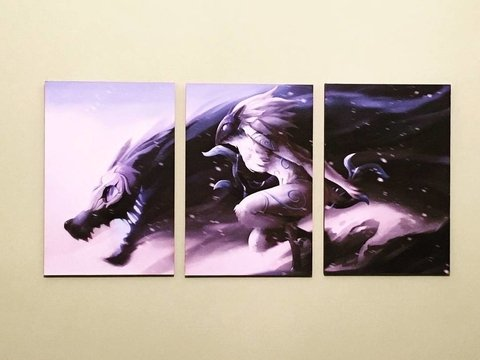 Cuadros - Tríptico Kindred League of Legends