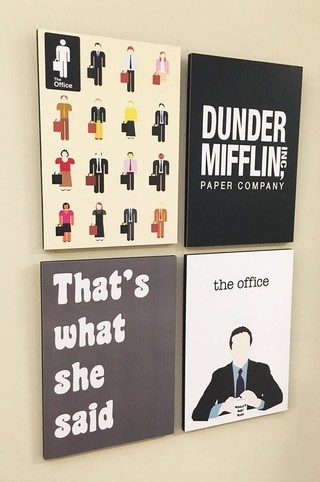Combo 4 cuadros The Office (Cada uno 20x28 cm) - comprar online