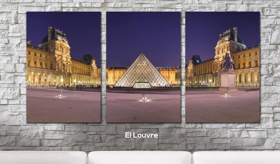 Cuadros - Triptico Paris Museo de Louvre - Delorean Art