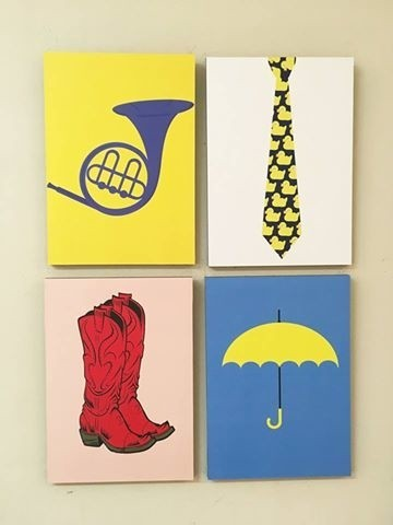 Combo 4 cuadros How I Met Your Mother colores - comprar online