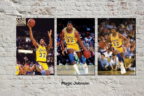 Cuadros - Tríptico Magic Johnson - comprar online