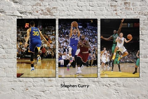 Cuadros - Tríptico Stephen Curry
