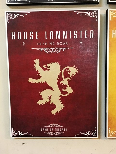 Cuadro Game of Thrones Casa Lannister - comprar online