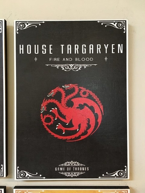 Cuadro Game of Thrones Casa Targaryen - comprar online