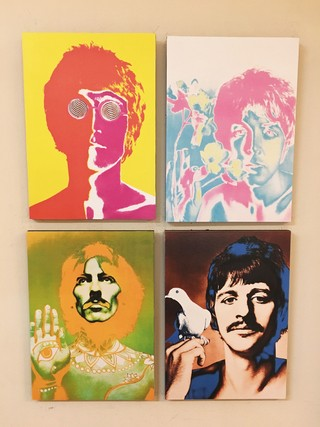 Combo 4 cuadros The Beatles colores - comprar online