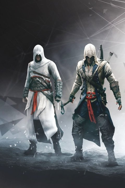 Cuadros - Triptico Assassin's Creed L (total 80x40 Cm)