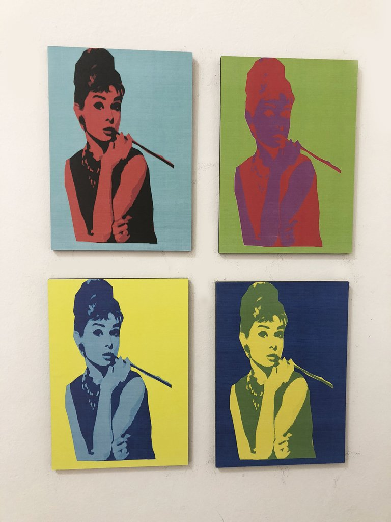 Combo 4 Cuadros Breakfast at Tiffany\'s - Pop Art Audrey Hepburn