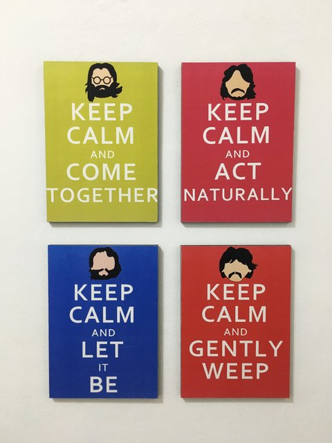 Combo 4 cuadros Beatles Keep Calm - comprar online