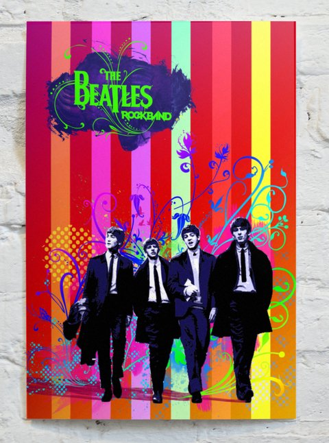 Cuadro The Beatles Poster Colores CA17