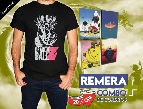Combo 4 Cuadros + Remera Dragon Ball Z