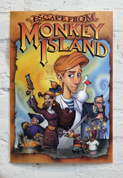 Cuadro Escape from Monkey Island