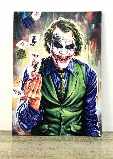 Cuadro Joker Heath Ledger Cartas 1