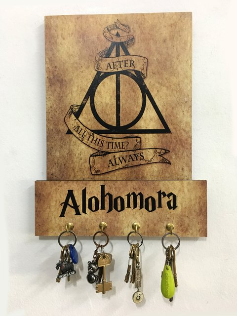 Cuadro Portallaves Harry Potter Reliquias Beige