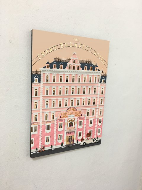 Cuadro The Grand Budapest Hotel Rosa Wes Anderson