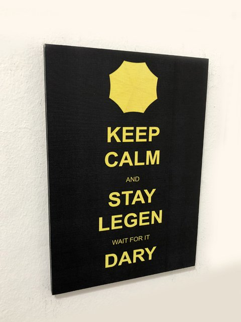 Cuadro How I Met Your mother -  Keep calm and star legen wait for it Dary - comprar online