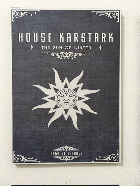Cuadro Game of Thrones Casa Karstark - comprar online
