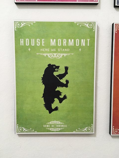 Cuadro Game of Thrones Casa Mormont - comprar online