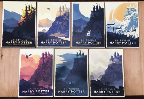 Combo 7 Cuadros Posters Harry Potter B - comprar online