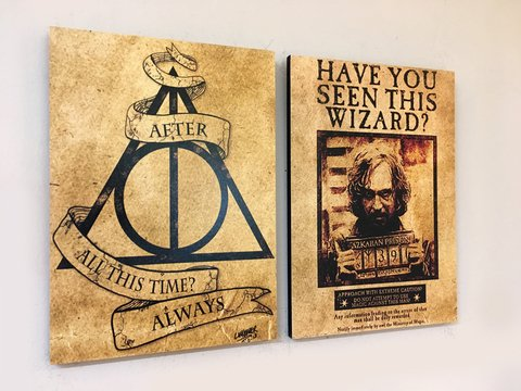 Cuadros - Diptico Harry Potter - Reliquias y Sirius Black