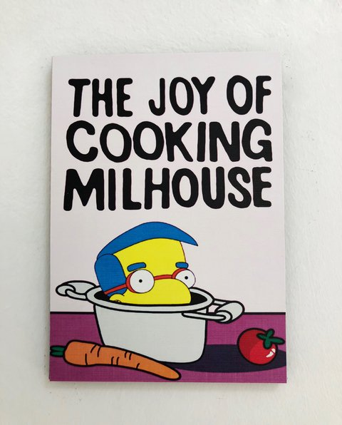 Cuadro Los Simpsons The Joy of Cooking Milhouse