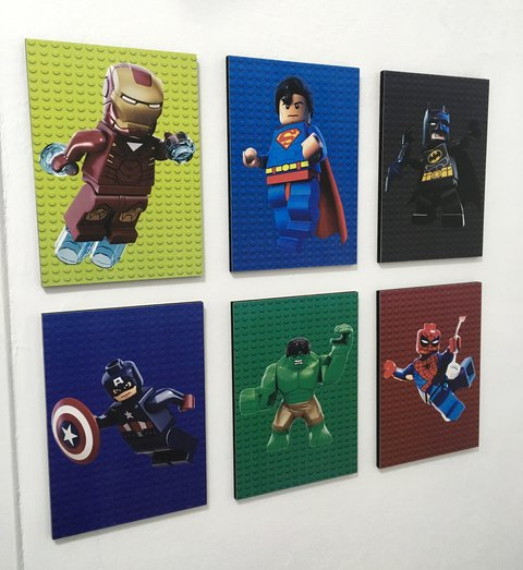 Combo 6 Cuadros Lego Marvel Super Heroes